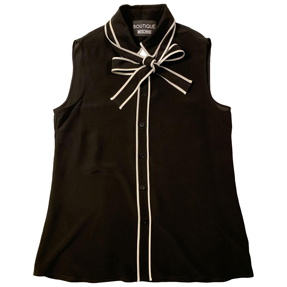 Moschino - Top   pour femme en soie - noir