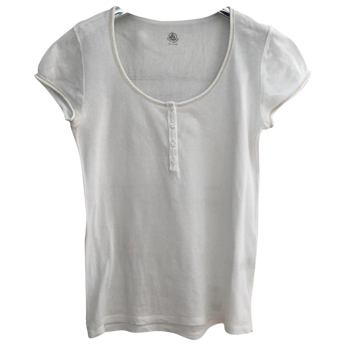 Petit Bateau \N White Cotton  top for Women 36 FR