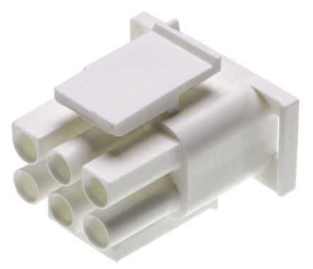 TE Connectivity , Universal MATE-N-LOK Male Connector Housing, 6.35mm Pitch, 6 Way, 2 Row (5)