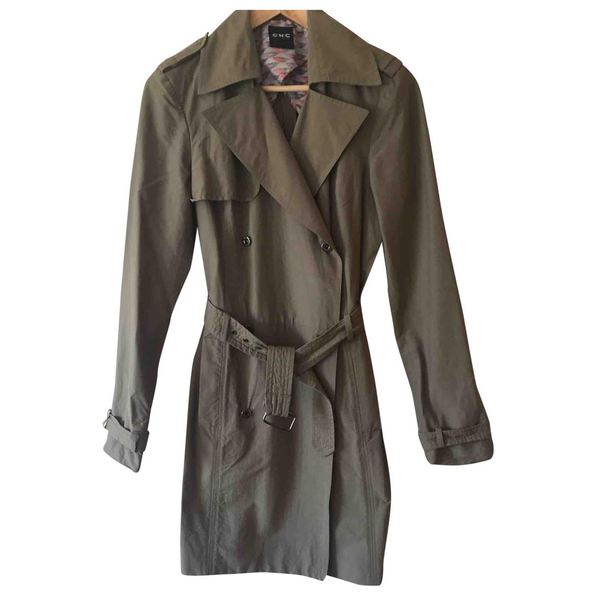 Costume National - Manteau   pour femme en coton - vert