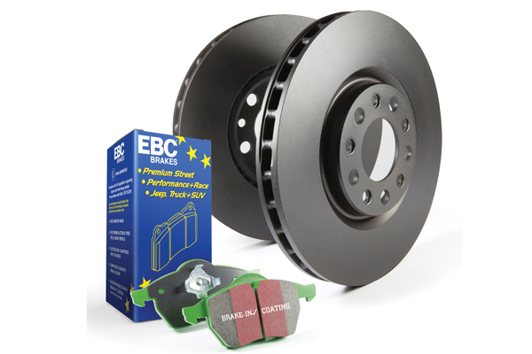 EBC Brakes S11KR1041 S11KR Kit Number REAR Disc Brake Pad and Rotor Kit DP21167+RK7002 Rear