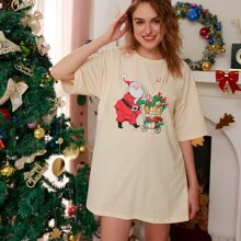 Christmas Letter Santa Claus Graphic Tee