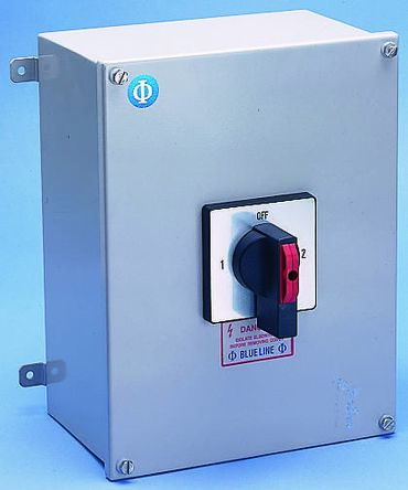 Kraus & Naimer 4 Pole Non Fused Isolator Switch - 63 A Maximum Current, 22 kW Power Rating, IP65