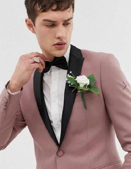 Alberto Nardoni Mauve Color Pale Purple Taupe Shades Color Velvet Rose Gold Tuxedo Dinner