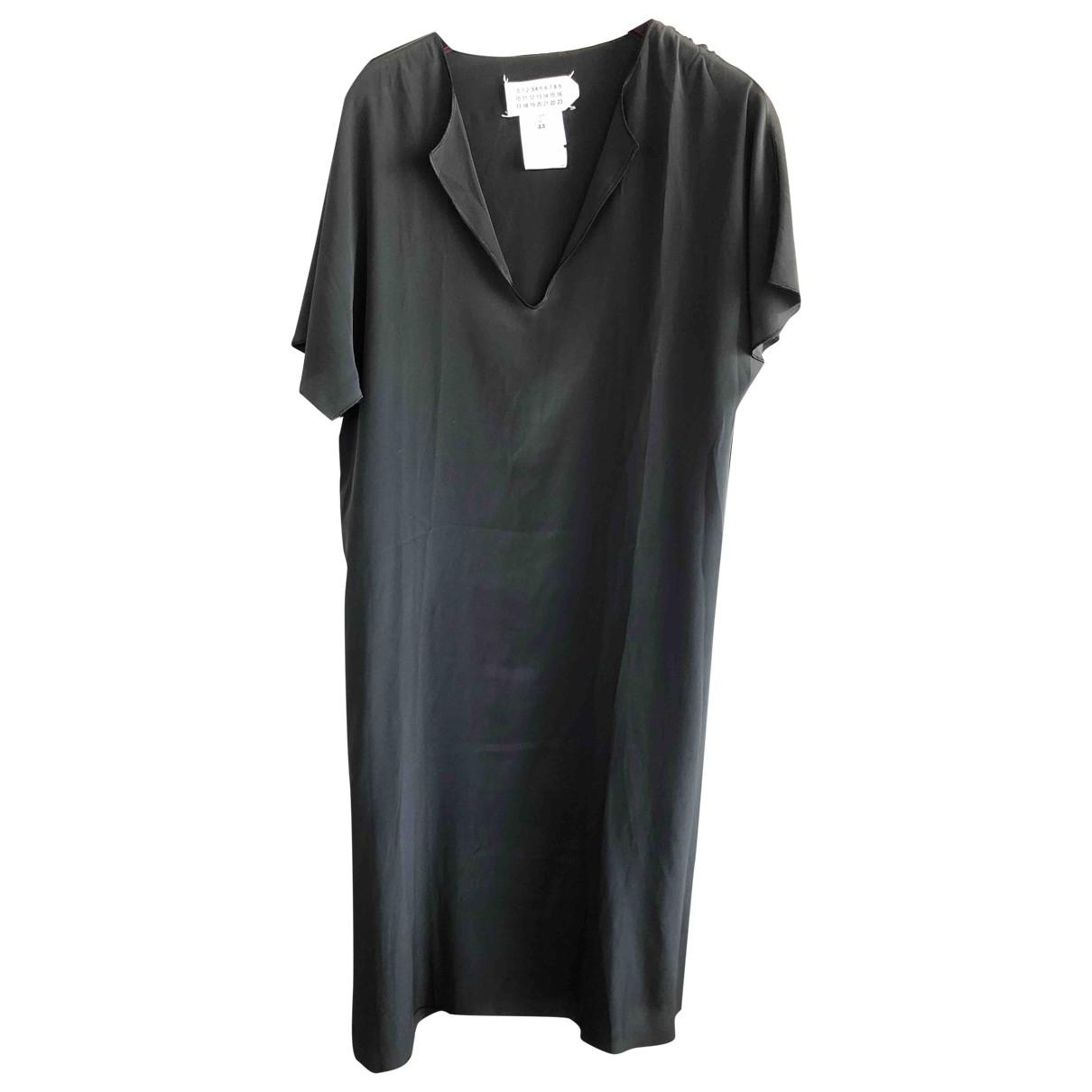 Maison Martin Margiela \N Kleid in  Schwarz Synthetik