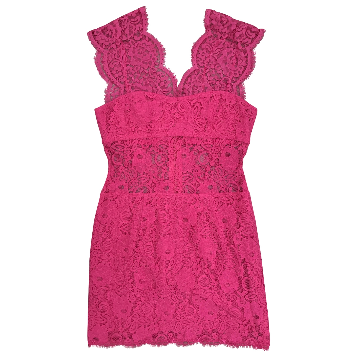 Bcbg Max Azria \N Pink Lace dress for Women 38 FR