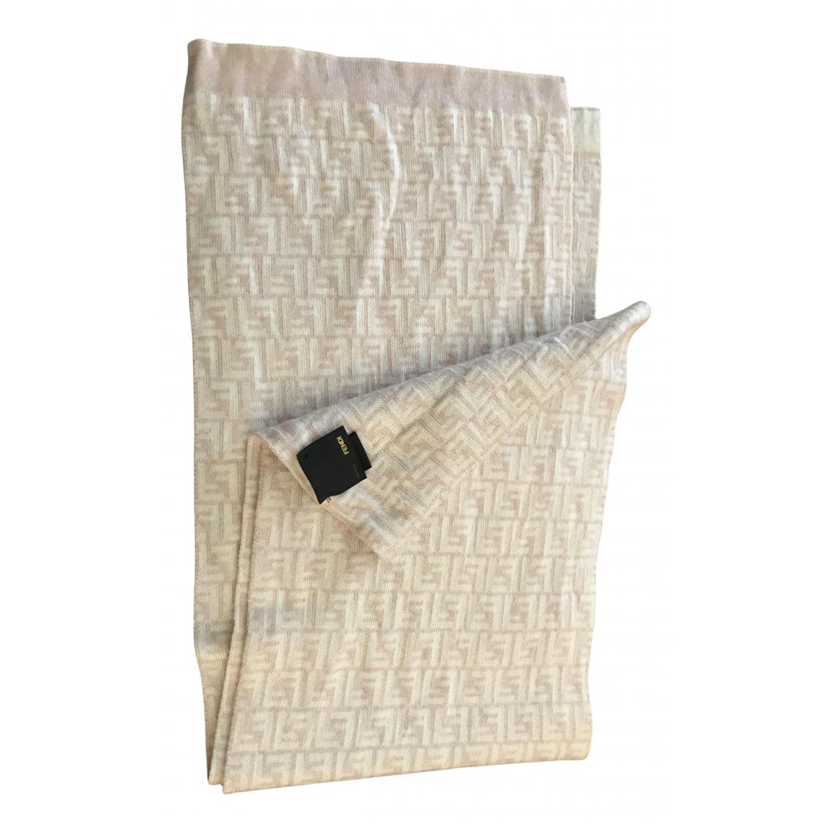 Fendi \N Schal in  Beige Wolle