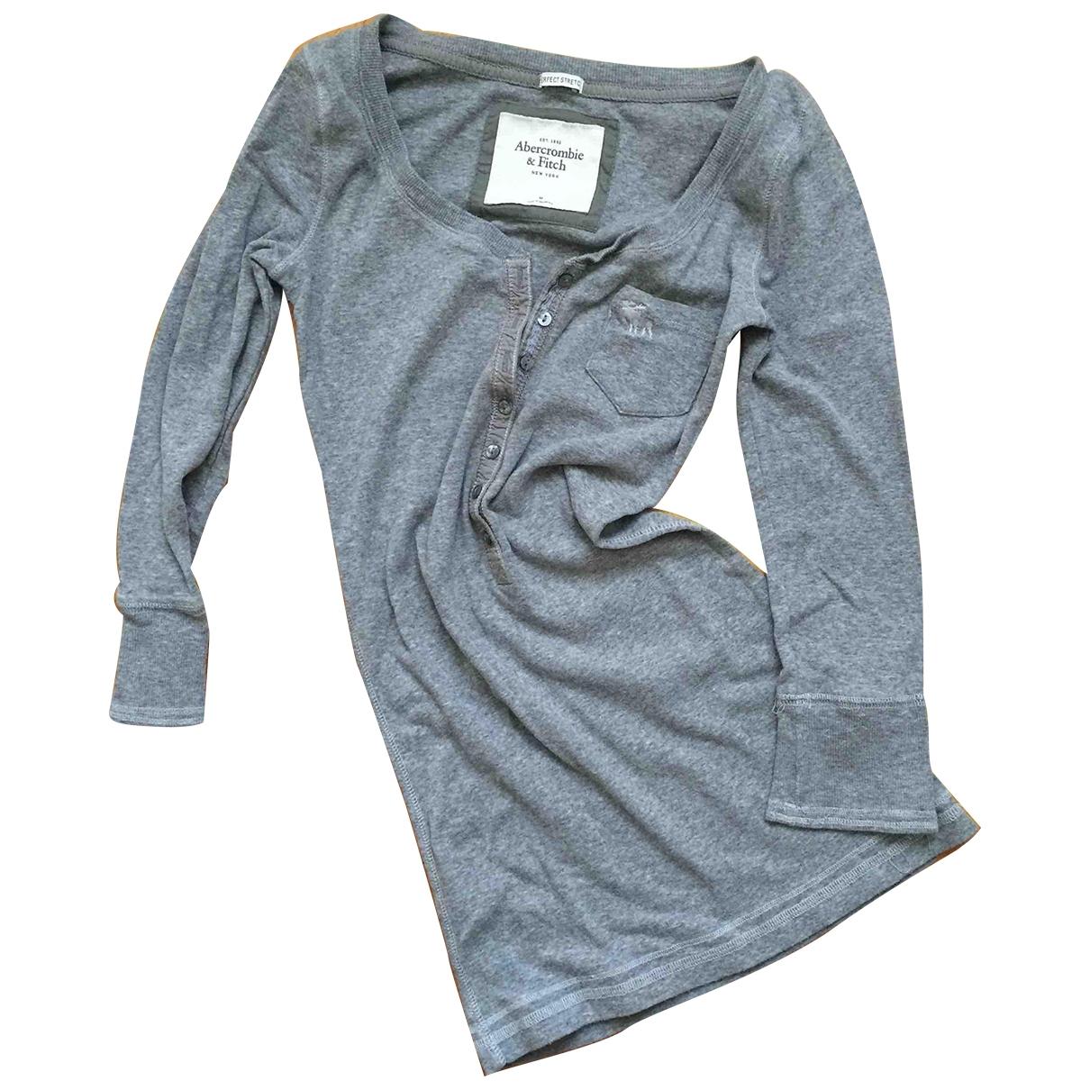 Abercrombie & Fitch - Top   pour femme en coton - gris