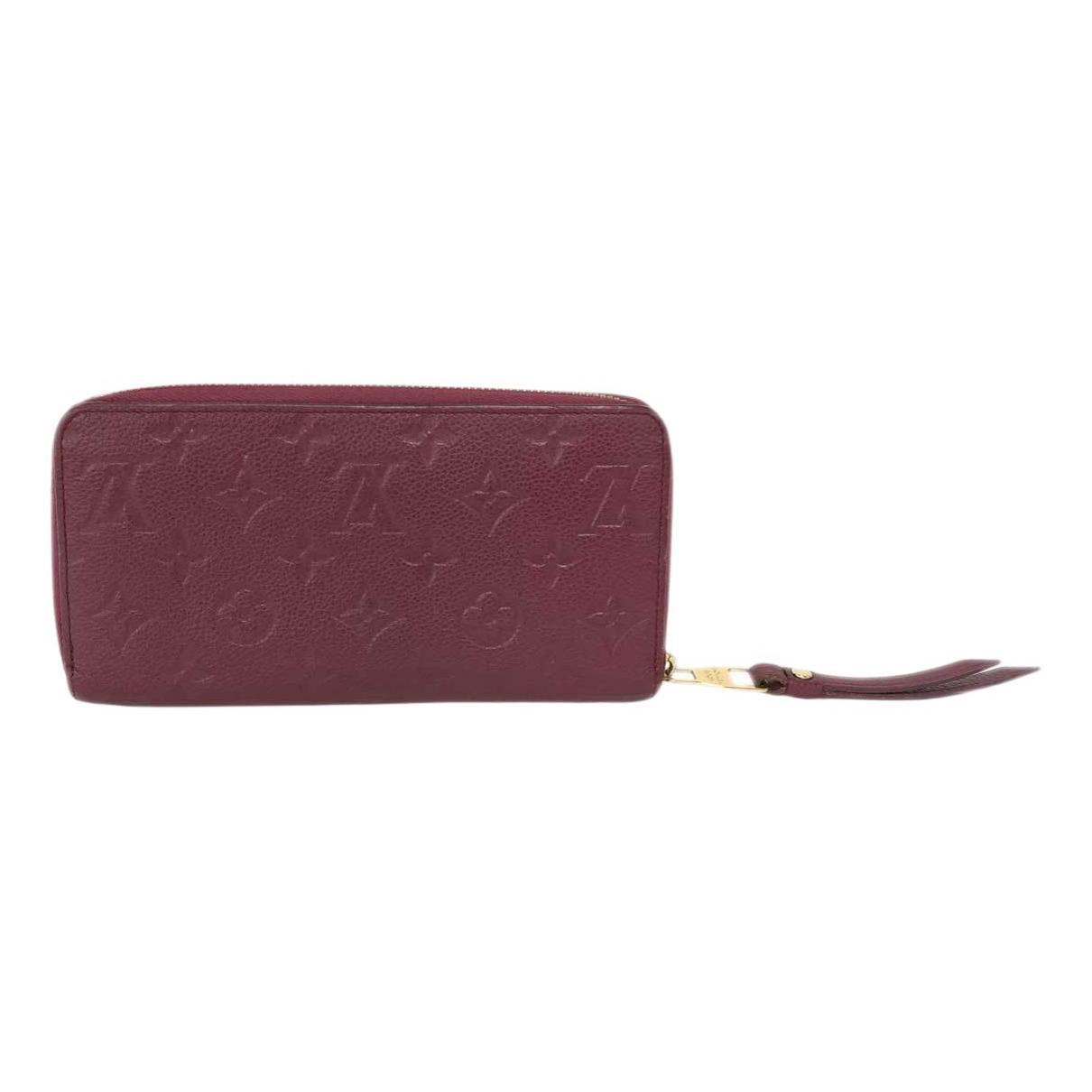 Louis Vuitton Clemence Portemonnaie in  Lila Leder