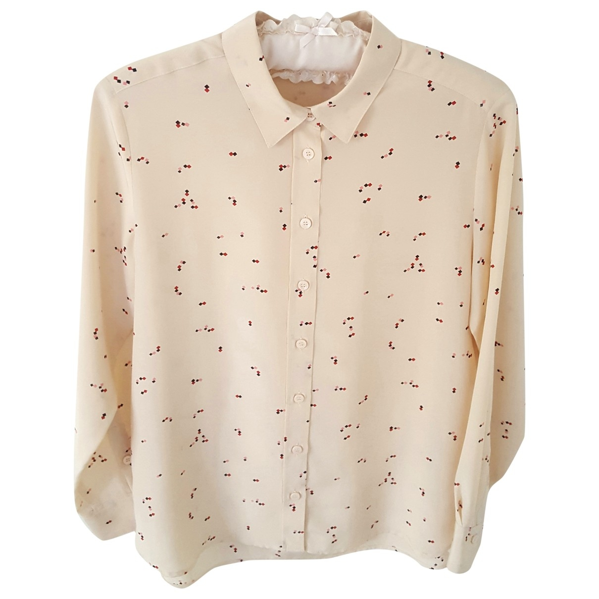 Gerard Darel \N Beige Silk  top for Women 36 FR