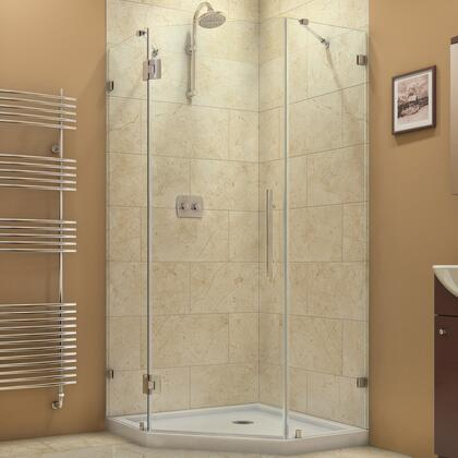 SHEN-2238380-04 Prism Lux 38 In. X 38 In. X 72 In. Fully Frameless Hinged Shower Enclosure In Brushed