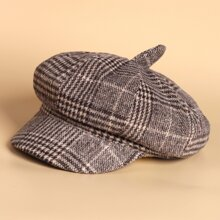 Toddler Kids Plaid Pattern Baker Boy Cap