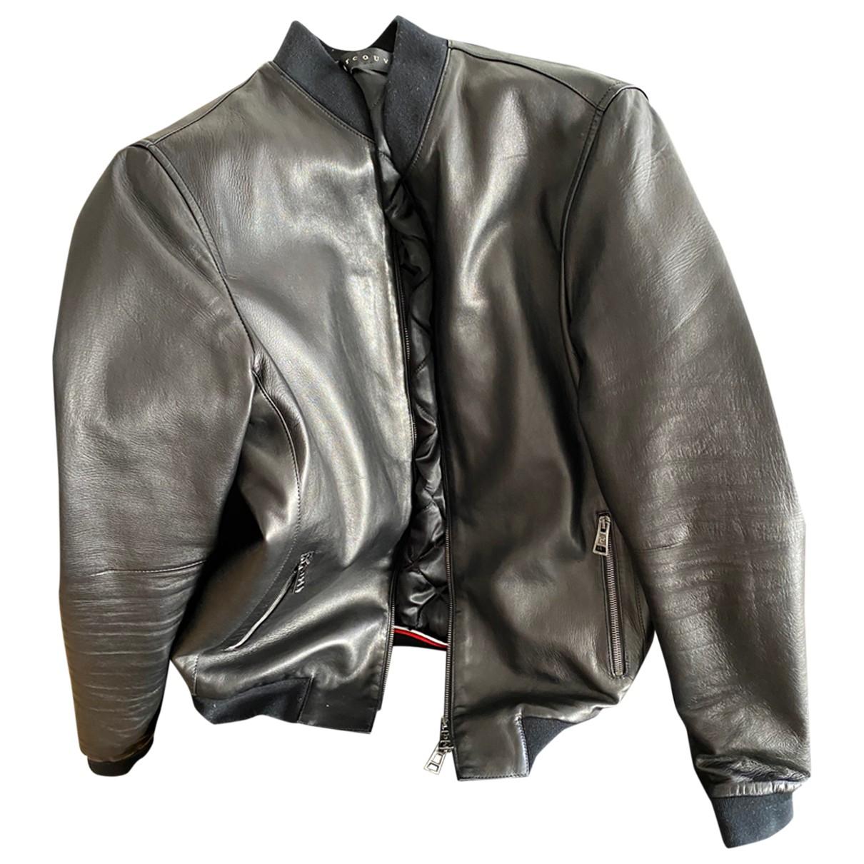 Ventcouvert - Vestes.Blousons   pour homme en cuir - noir