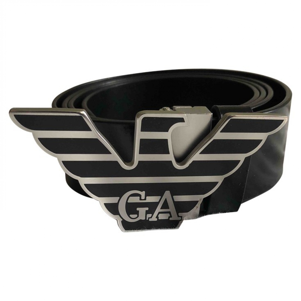 Emporio Armani \N Black Leather belt for Men 31 Inches