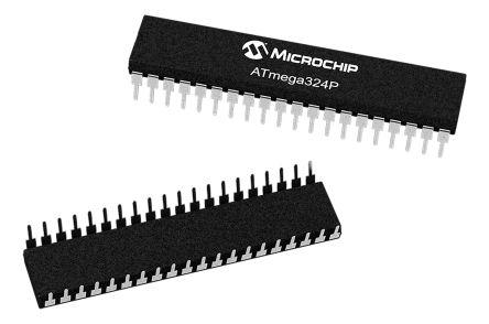 Microchip ATMEGA324PV-10AU, 8bit AVR Microcontroller, ATmega, 10MHz, 32 kB Flash, 44-Pin TQFP