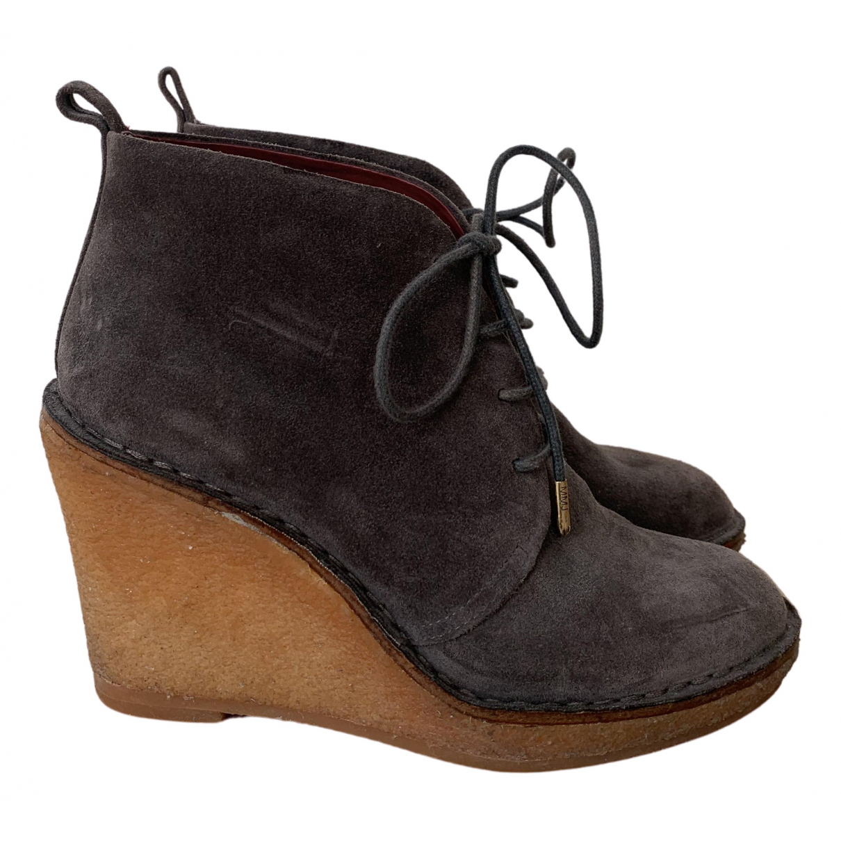 Marc By Marc Jacobs N Grey Suede Ankle boots for Women 39.5 EU