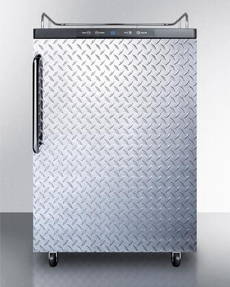 SBC635MNKDPL Commercial 5.7 cu. ft. Freestanding Beer Dispenser with Diamond Plated Door  No Tap Auto Defrost and Digital