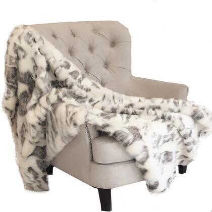 Ivory Rabbit Fur Collection PBSF1428-4860-TC 48W x 60L Faux Handmade Luxury