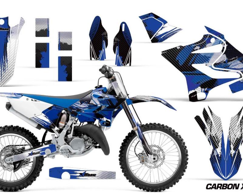 AMR Racing Dirt Bike Decal Graphic Kit MX Wrap For Yamaha YZ125 YZ250 2015-2018áCARBONX BLUE