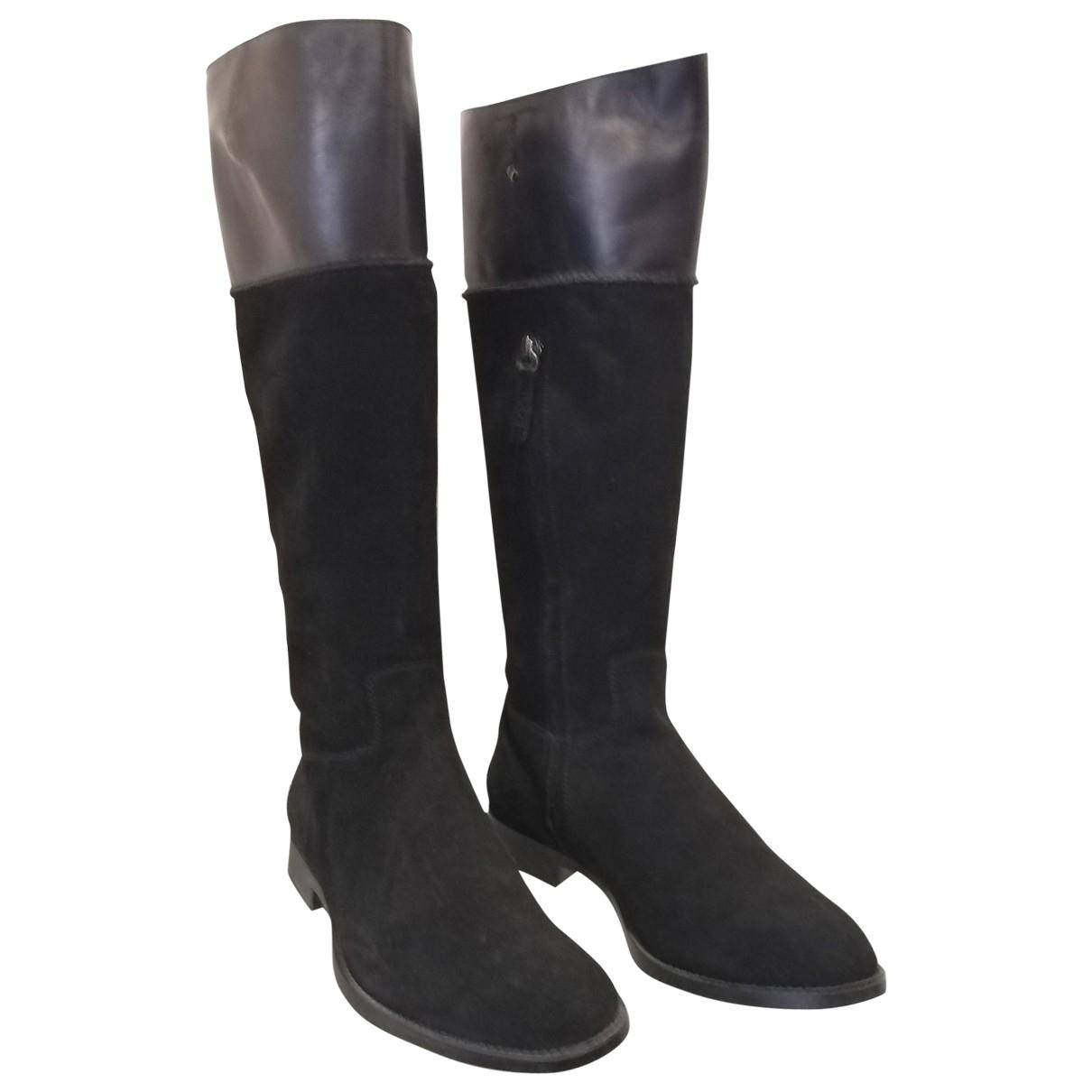 Tods - Bottes   pour femme en suede - noir
