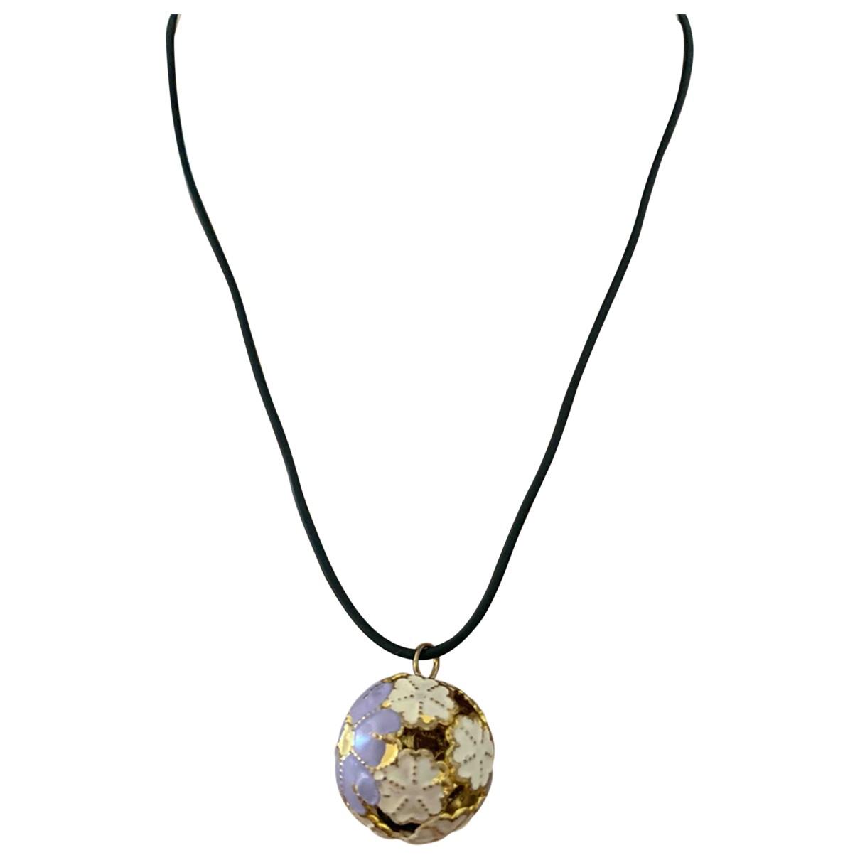 Non Signé / Unsigned Motifs Floraux Multicolour Ceramic necklace for Women \N