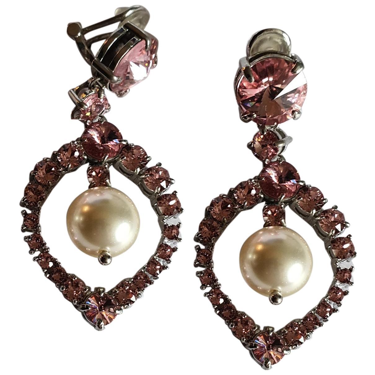 Miu Miu \N Pink Metal Earrings for Women \N