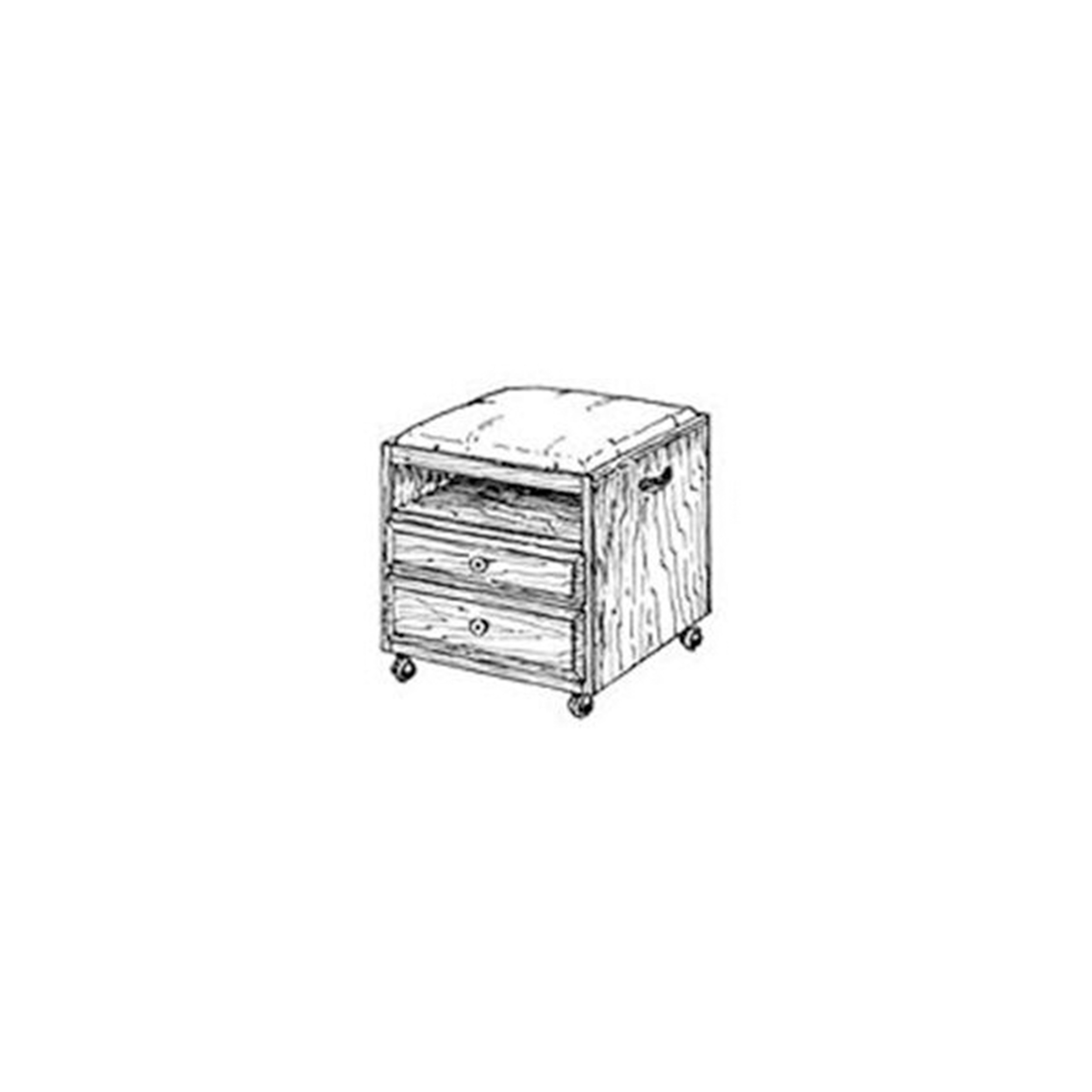 Woodworking Project Paper Plan to Build Rolling Sewing Box