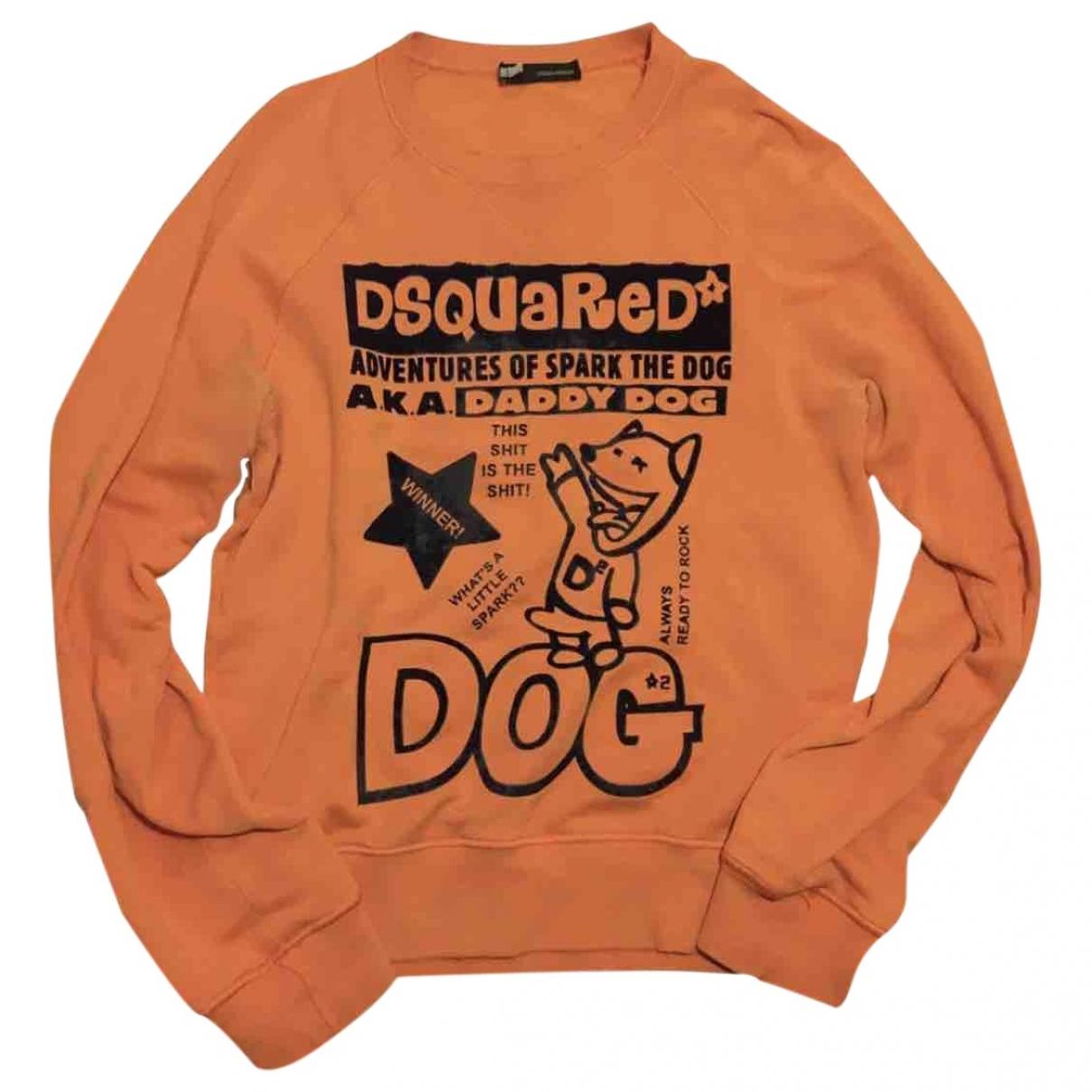 Dsquared2 \N Pullover.Westen.Sweatshirts  in  Orange Baumwolle