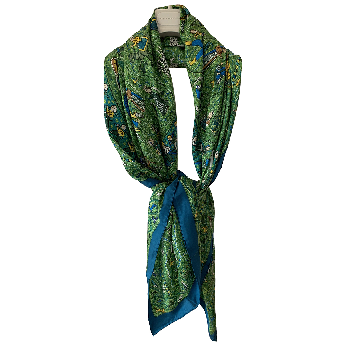 Hermès Carré Géant silk 140 Green Silk scarf for Women N
