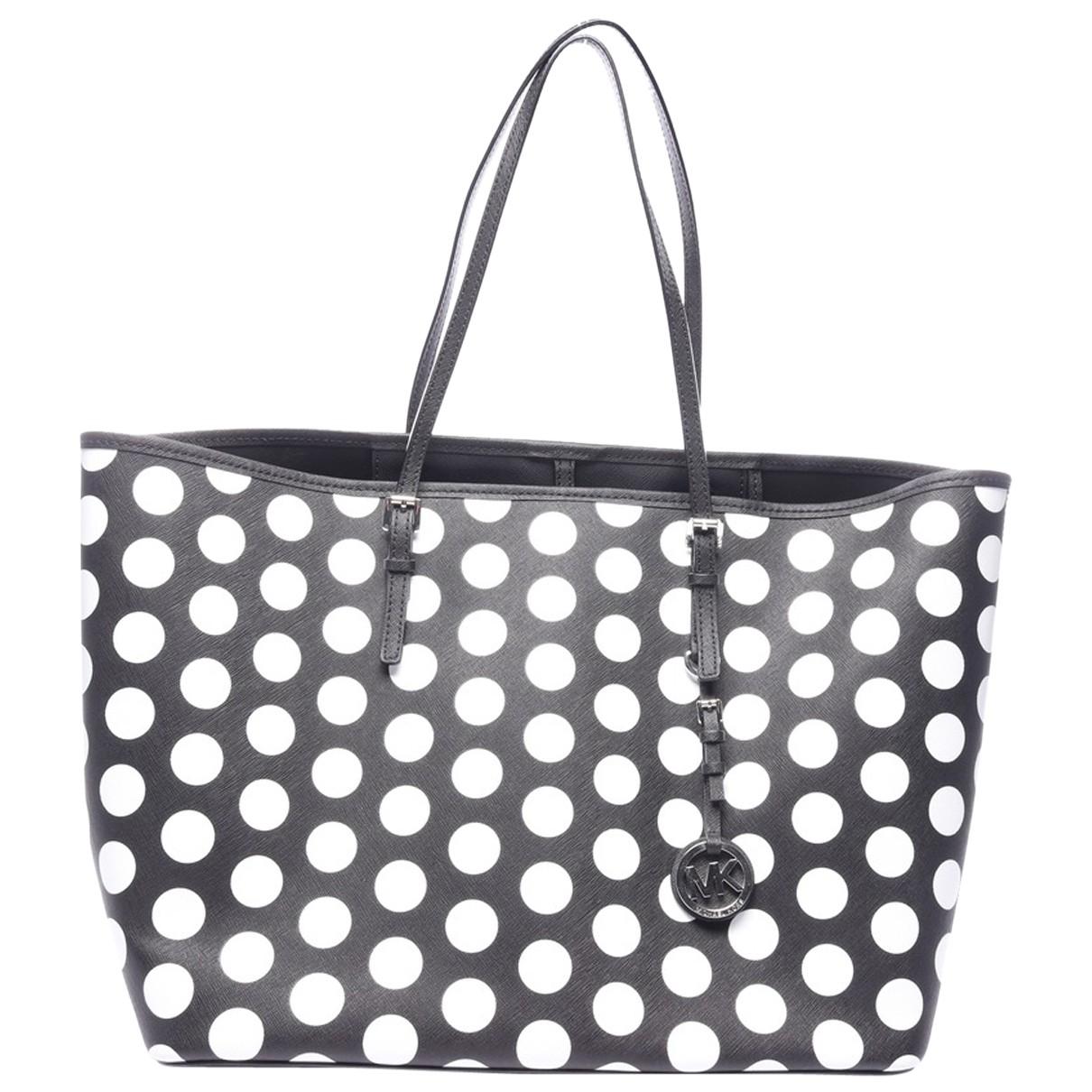 Michael Kors Jet Set Black Leather handbag for Women N