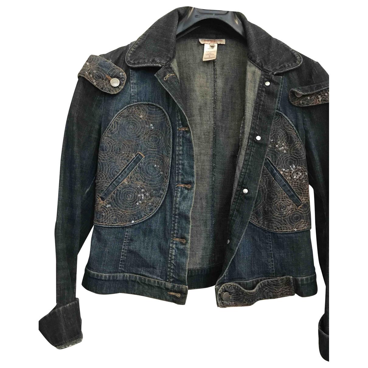 Christian Lacroix \N Blue Denim - Jeans jacket for Women 42 FR