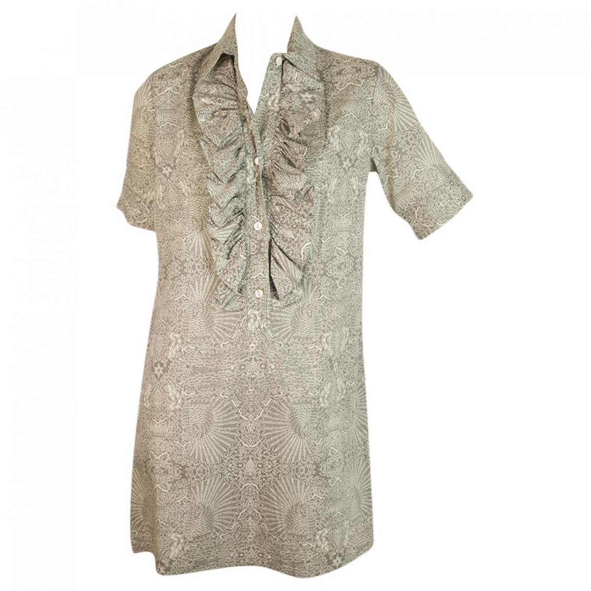 Paul & Joe Sister \N Kleid in  Grau Baumwolle