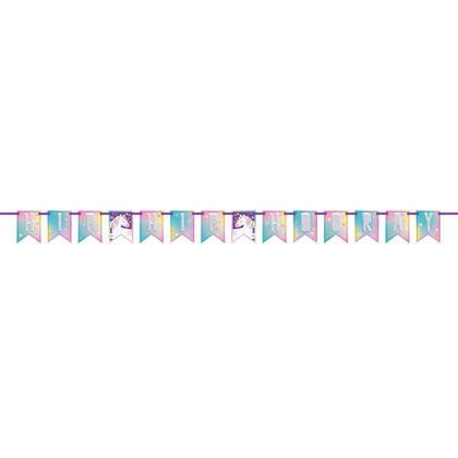 Bannière de fanion du parti Licorne, 7 pi, 1Pc Pour la fête d'anniversaire