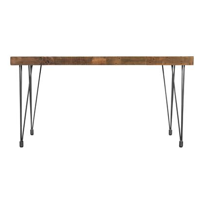 Boneta Collection XA-1055-24 Dining Table with Iron Base in Natural