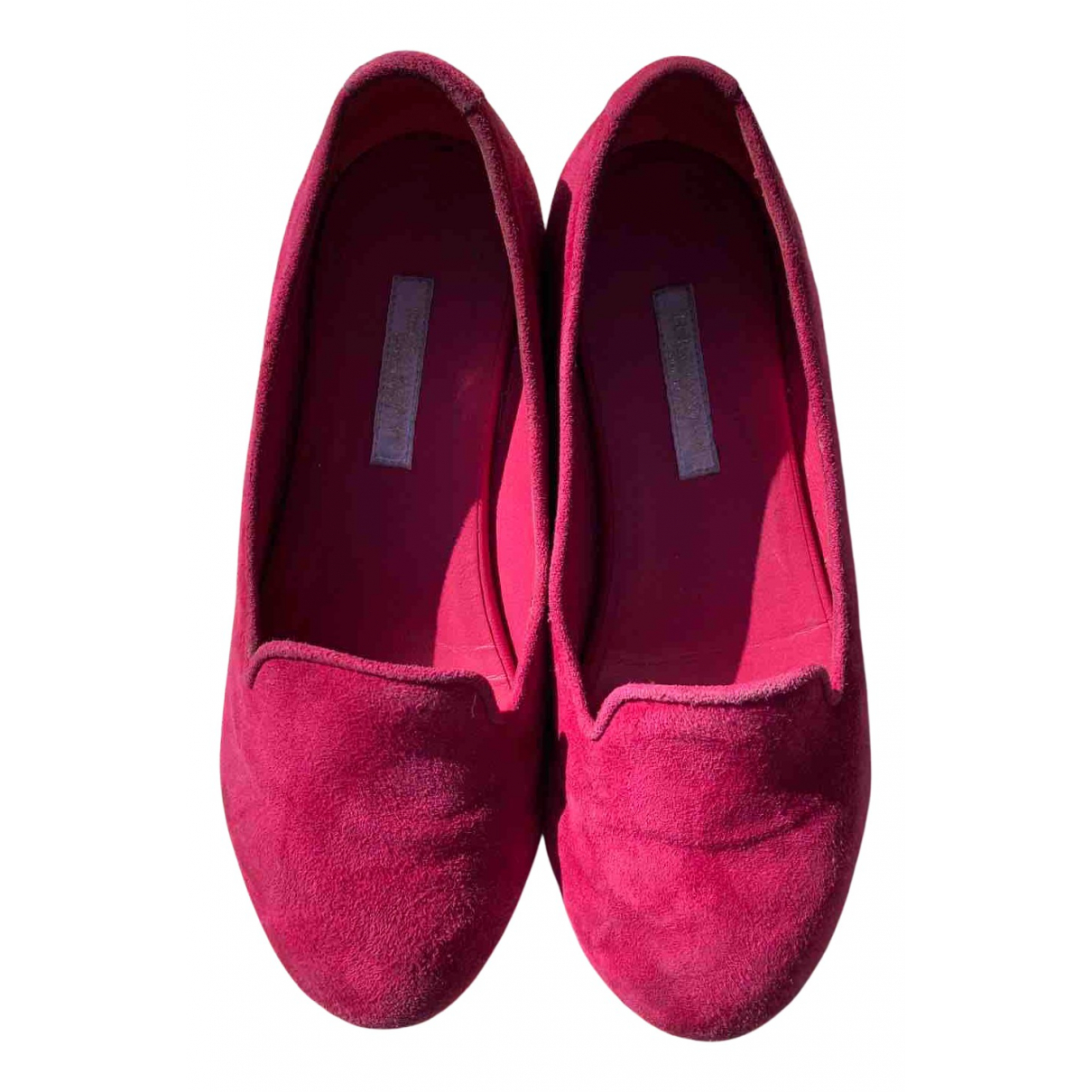 Dolce & Gabbana N Burgundy Suede Flats for Kids 32 FR