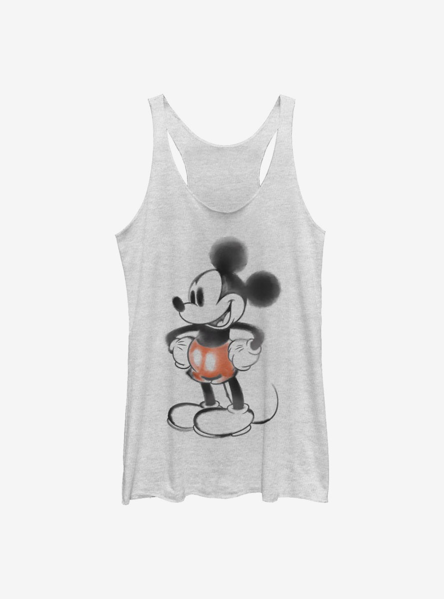 Disney Mickey Mouse Watercolor Mouse Womens Tank Top