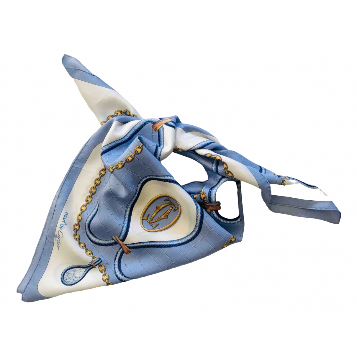 Cartier \N Blue Silk Silk handkerchief for Women \N