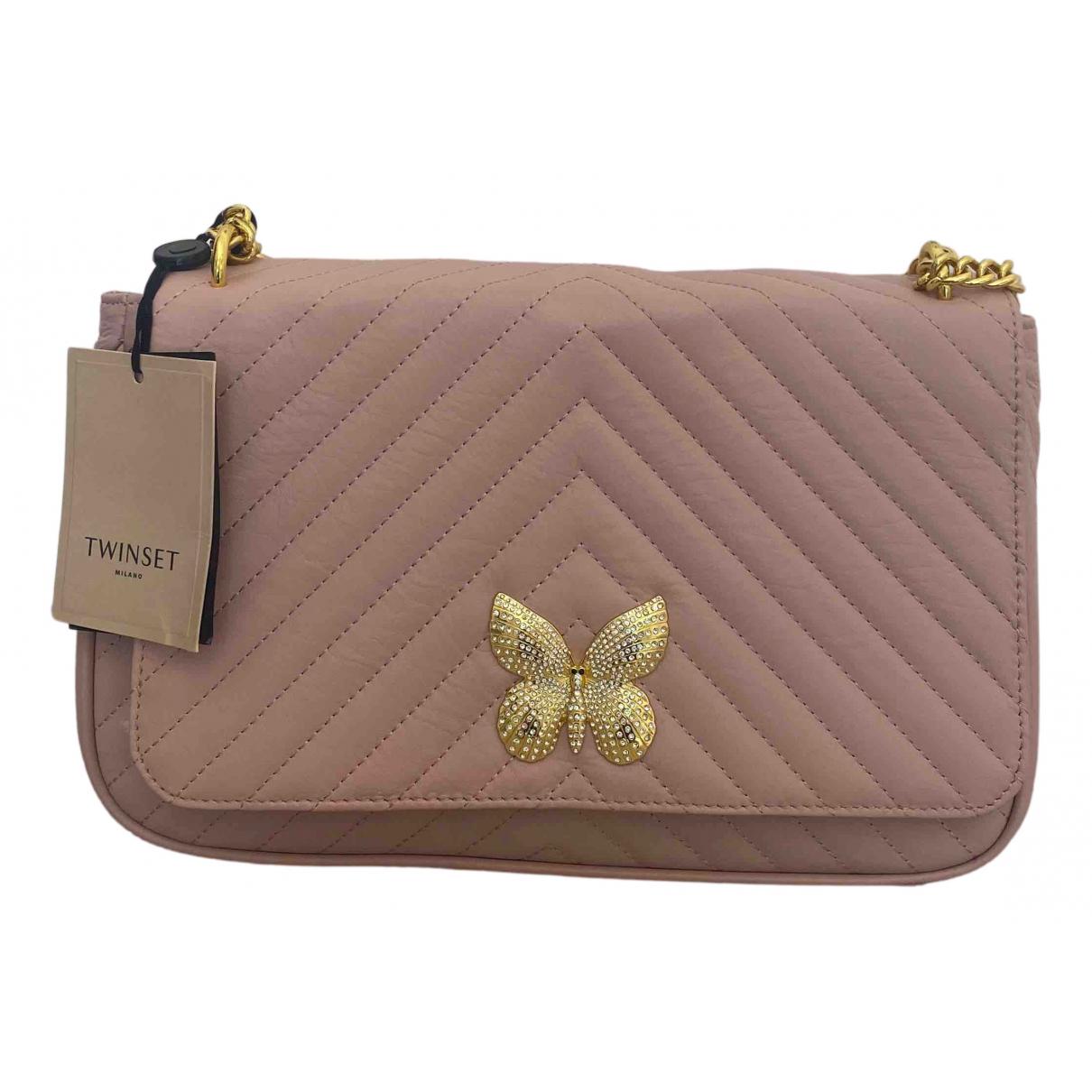 Twin Set \N Pink Leather handbag for Women \N