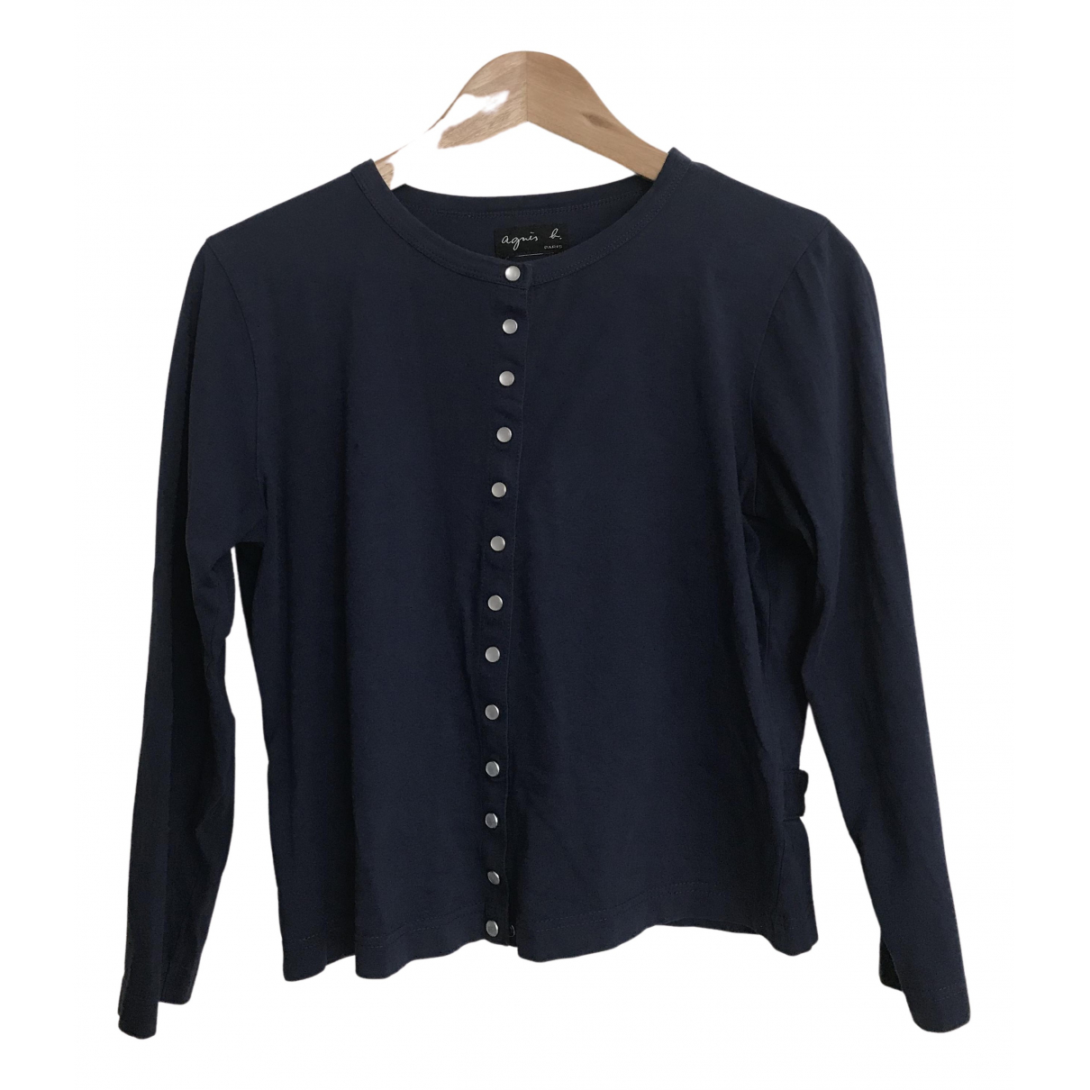 Agnes B. - Veste   pour femme en coton - bleu