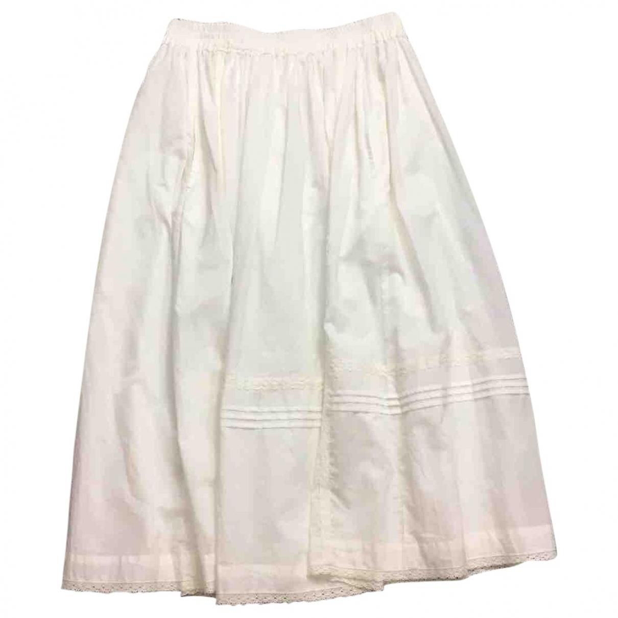 Zadig & Voltaire Spring Summer 2019 White Cotton skirt for Women M International