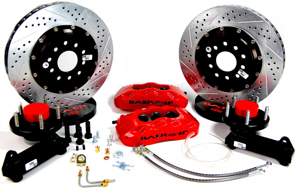 Baer Brakes Brake System 14 Inch Front Pro+ Red 37-48 Ford Truck