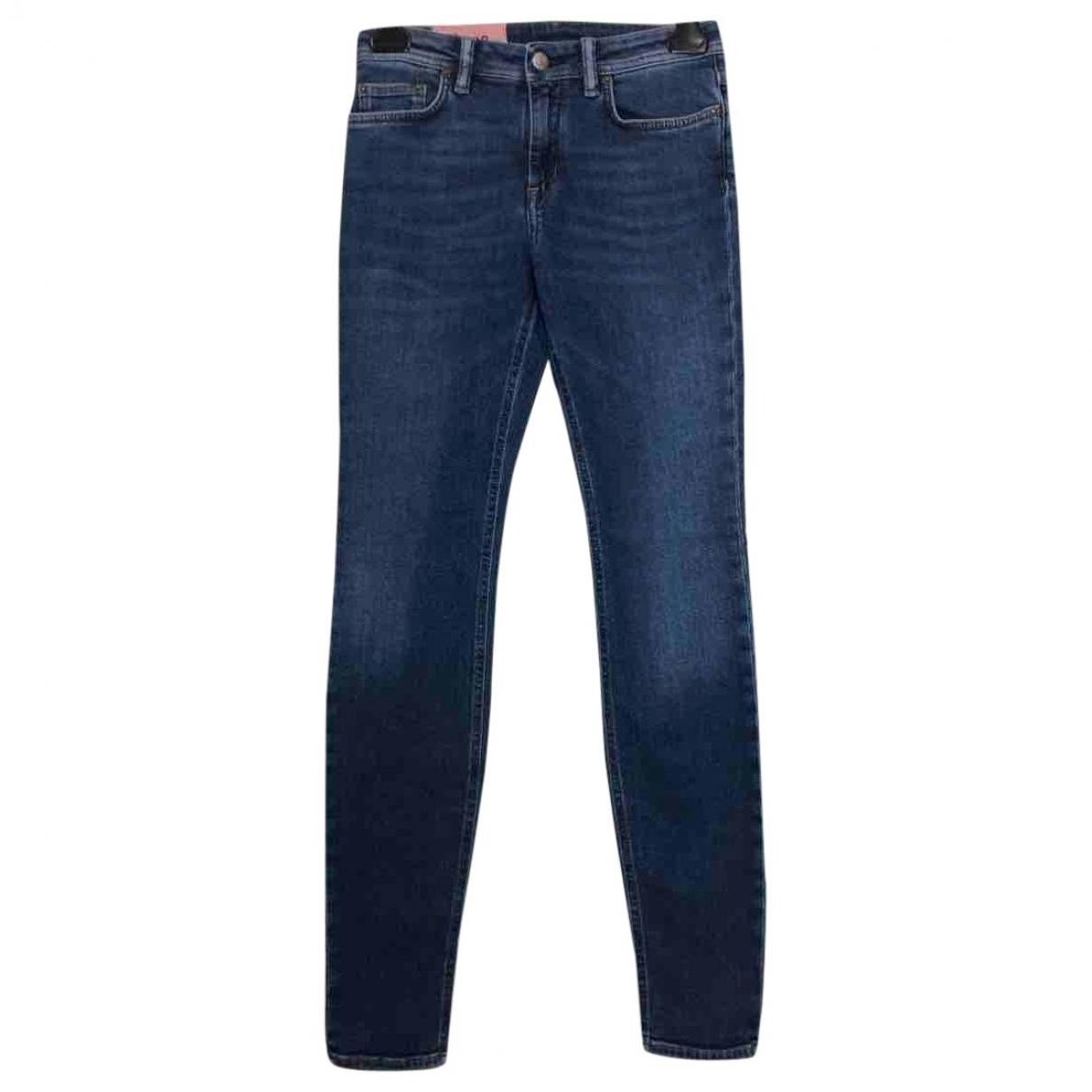 Acne Studios Blå Konst Blue Cotton - elasthane Jeans for Women 25 US