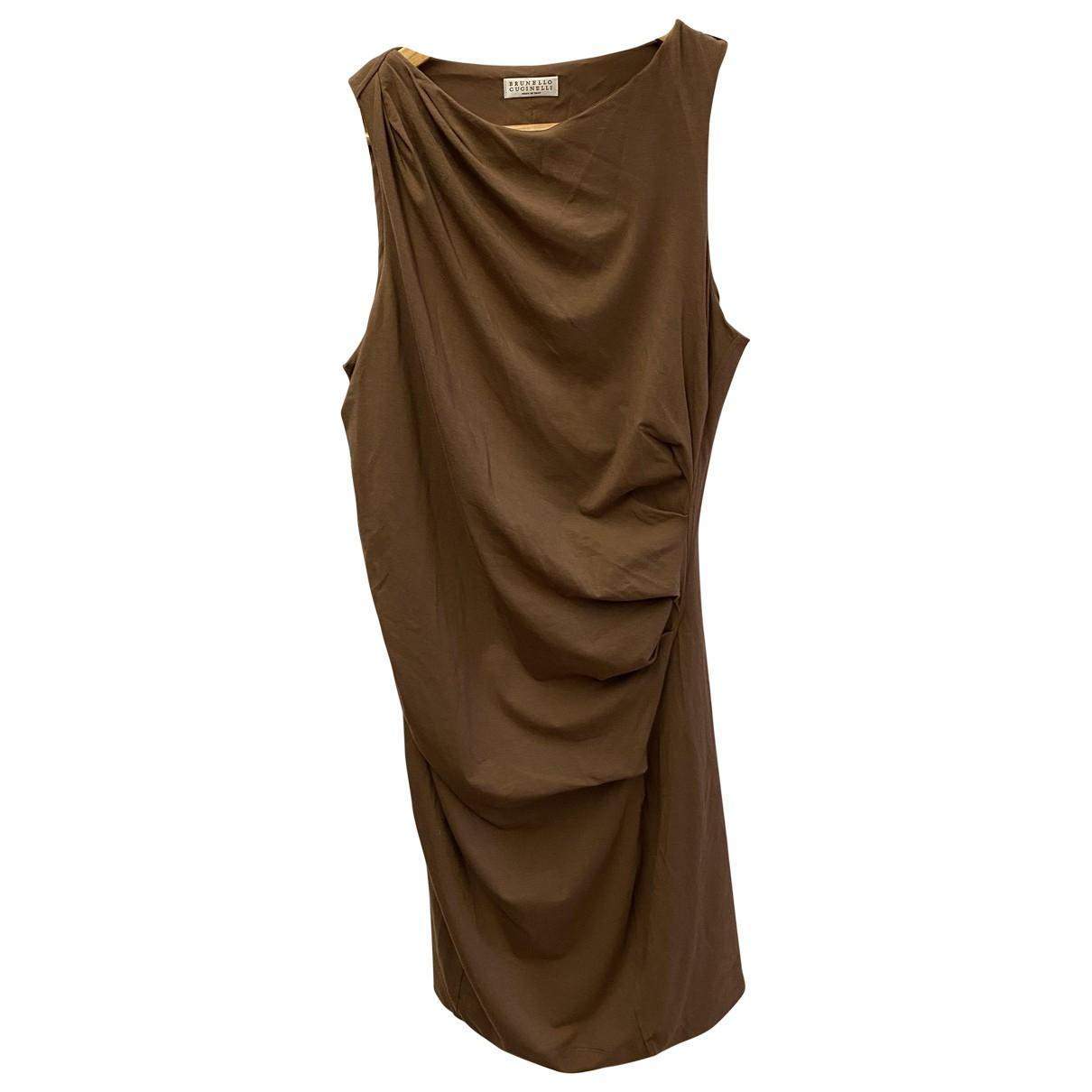 Brunello Cucinelli \N Kleid in  Braun Baumwolle - Elasthan