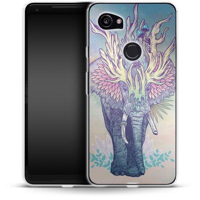 Google Pixel 2 XL Silikon Handyhuelle - Spirit Elephant von Mat Miller