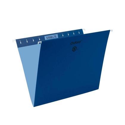 Pendaflex@ Essentials Esselte Oxford Colored Hanging File Folders - Navy Blue ,Letter 486548