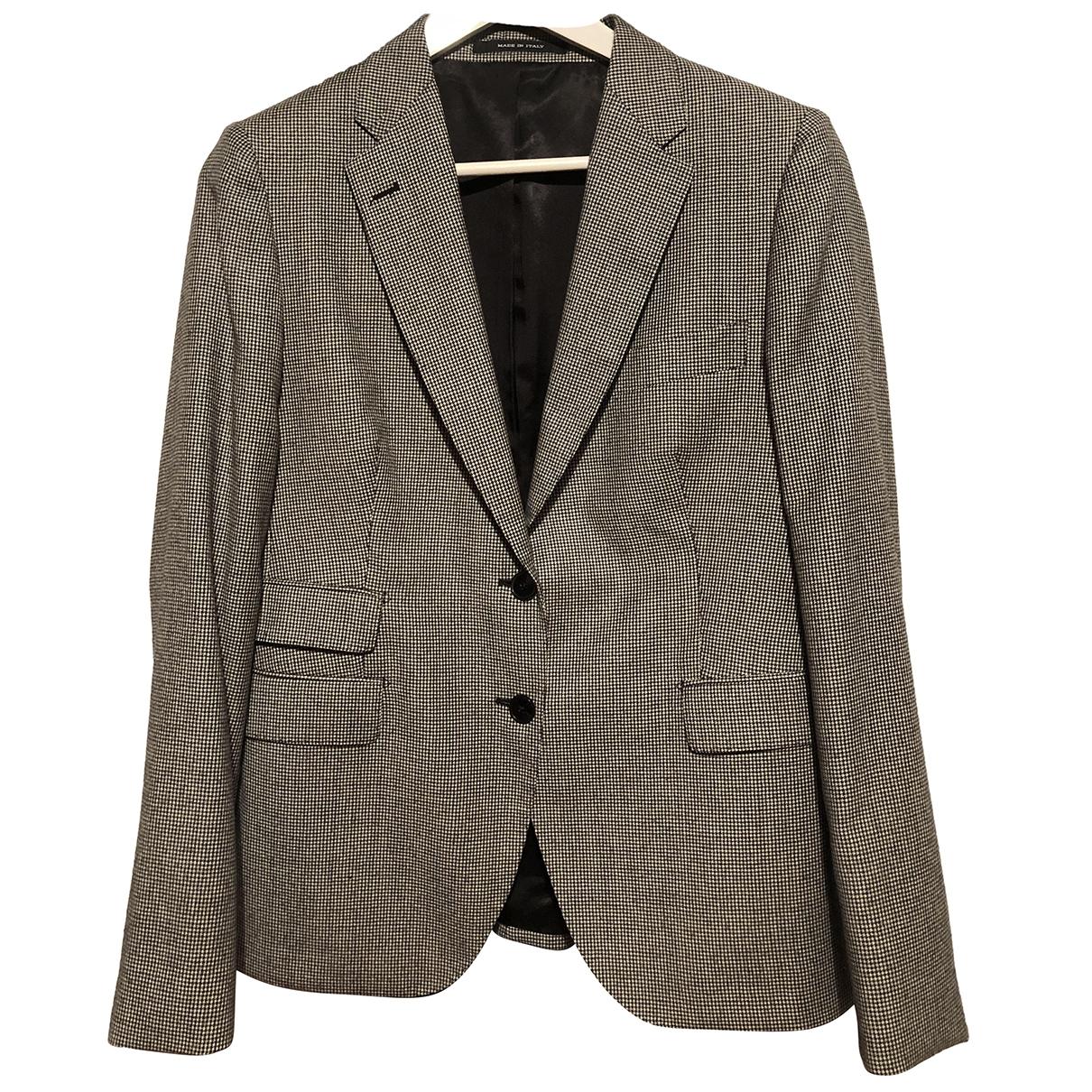 Tagliatore \N Black Wool jacket for Women 48 IT