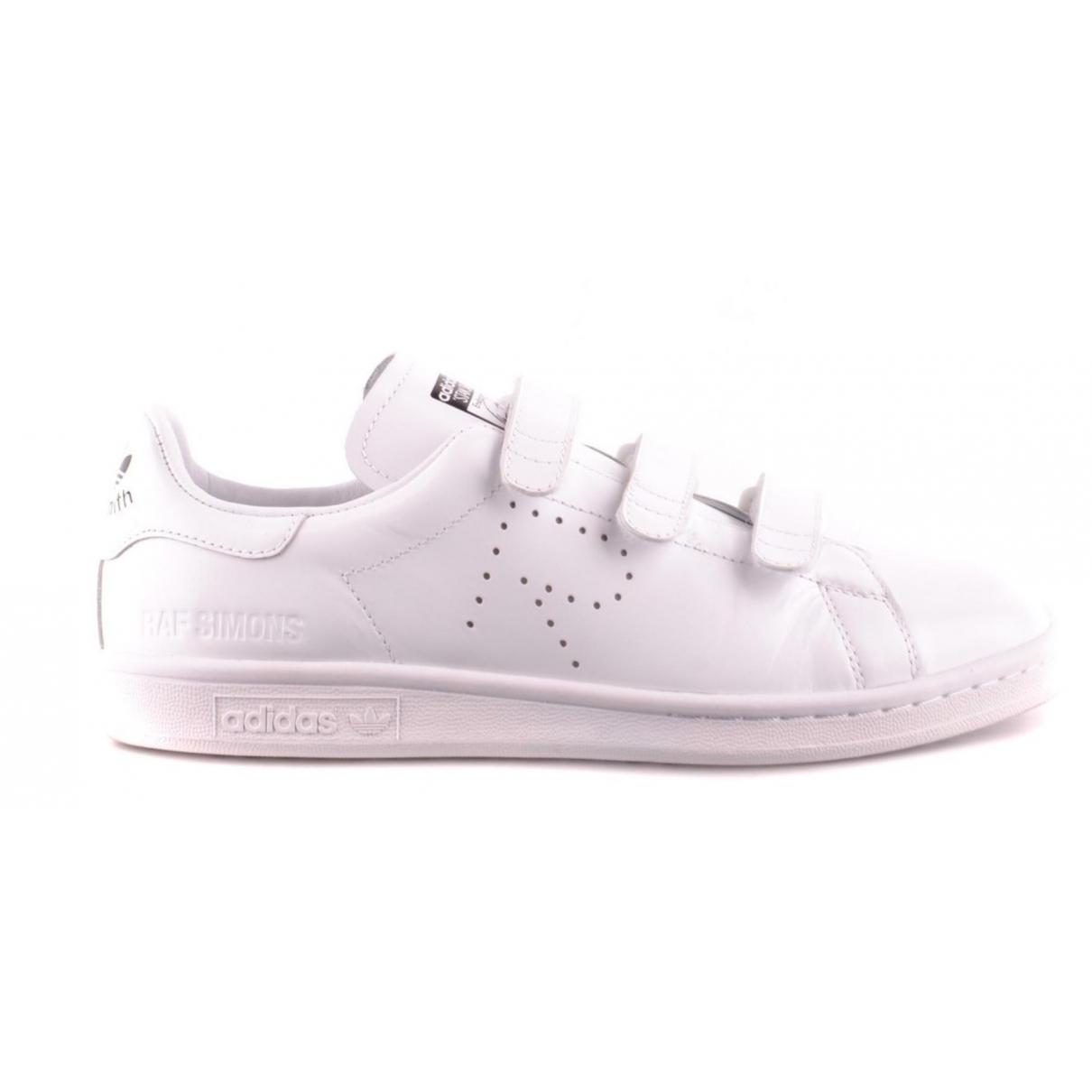 Adidas X Raf Simons - Baskets Stan Smith pour femme en cuir - blanc