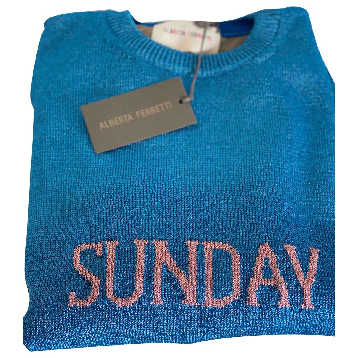 Alberta Ferretti \N Pullover in  Blau Synthetik