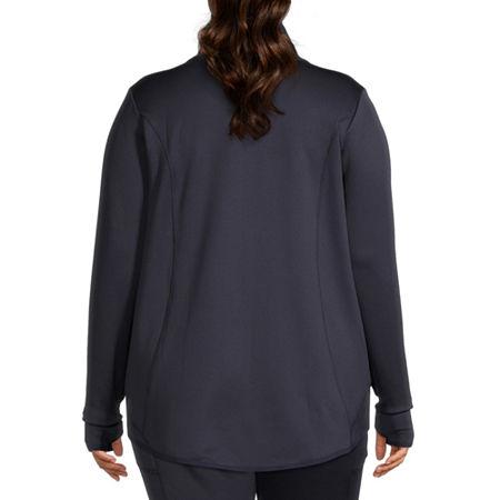 Xersion Womens Fleece Lined Jacket-Plus, 0x , Blue