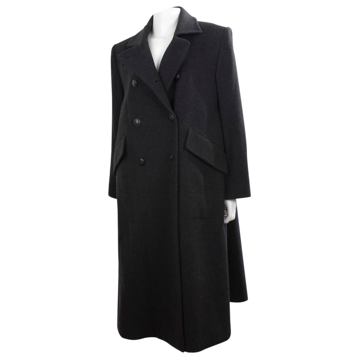 Hermes - Manteau   pour femme en laine - anthracite